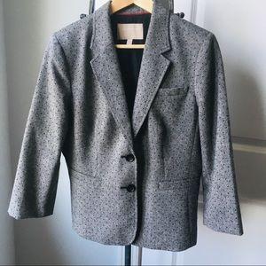 Banana Republic Dotted Gray Wool Blazer